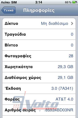 iPhone 3GS about