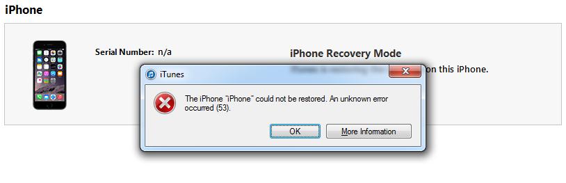 Λύση για το Error 53 στα iphone από την ίδια την Apple