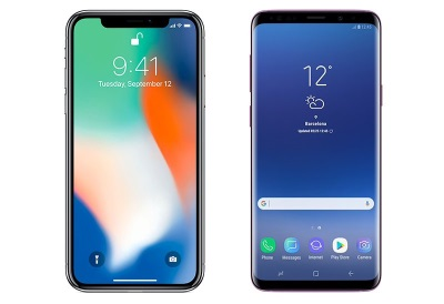 Apple Iphone X vs Samsung Galaxy S9