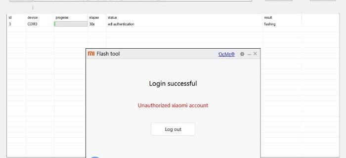 Mi Account Authentication Failed