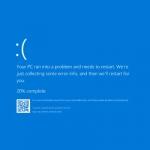 Μπλε οθόνη στα windows. Τι είναι και που οφείλεται